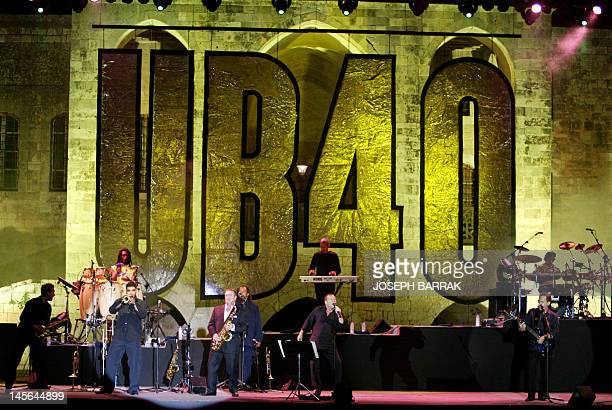 Britain's UB40 Reggae band performs late 16 July 2005 at Beiteddine festival in the Chouf mountains 45 kms southeast of Beirut The festival which...