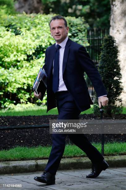 Britain's Wales Secretary Alun Cairns arrives at 10 Downing Street in London on May 8 2019 Britain will hold elections to the European Parliament...