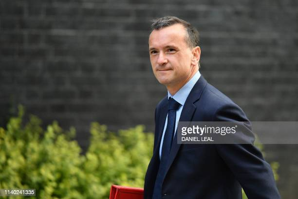 Britain's Wales Secretary Alun Cairns arrives at 10 Downing Street to attend a Cabinet meeting in London on April 30 2019