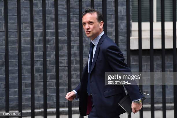 Britain's Wales Secretary Alun Cairns arrives at Downing street in central London on April 8 2019 European capitals are increasingly worried that...