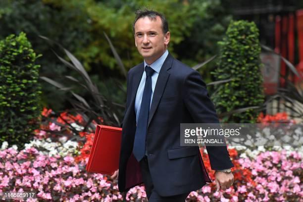 Britain's Wales Secretary Alun Cairns arrives in Downing Street on September 2 2019 Britain's Prime Minister Boris Johnson prepared on September 2...