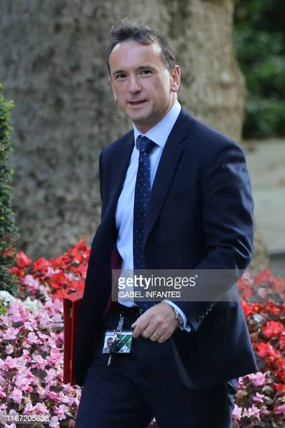 Britain's Wales Secretary Alun Cairns arrives in Downing street to attend the weekly cabinet meeting in central London on September 10 2019...