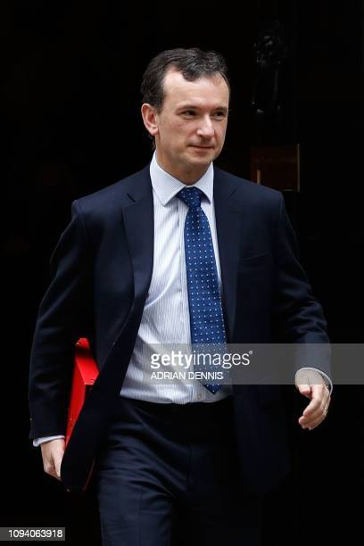 Britain's Wales Secretary Alun Cairns leaves 10 Downing Street in London on February 5 2019 after attending the weekly meeting of the cabinet A top...