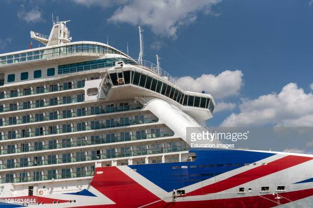 Britannia cruise ship berthed in the Port of Southampton UK PO company