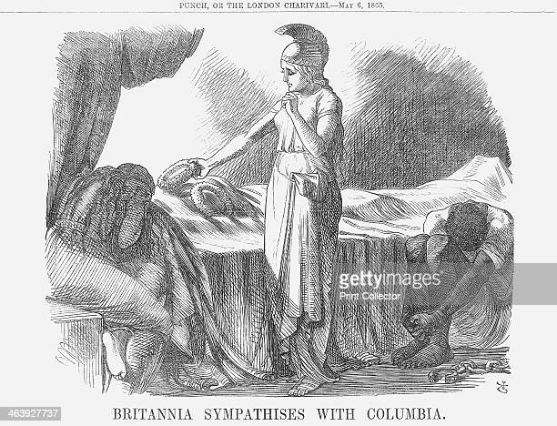 'Britannia Sympathises with Columbia' 1865 Only days after the long and bitter Civil War in America had finally come to an end its victorious...