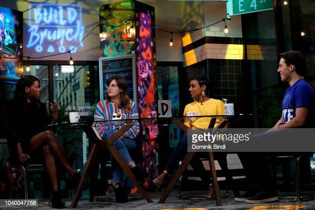 Britanny JonesCooper Shannon Coffey Delina Medhin and Lukas Thimm at Build Brunch at Build Studio on September 25 2018 in New York City