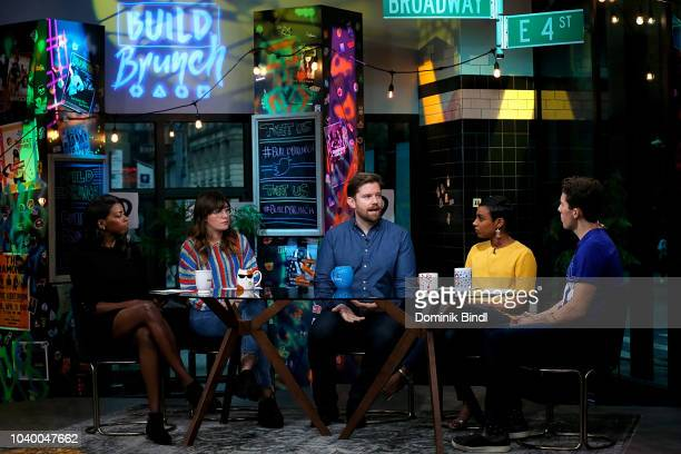 Britanny JonesCooper Shannon Coffey Rory O'Malley Delina Medhin and Lukas Thimm at Build Brunch at Build Studio on September 25 2018 in New York City