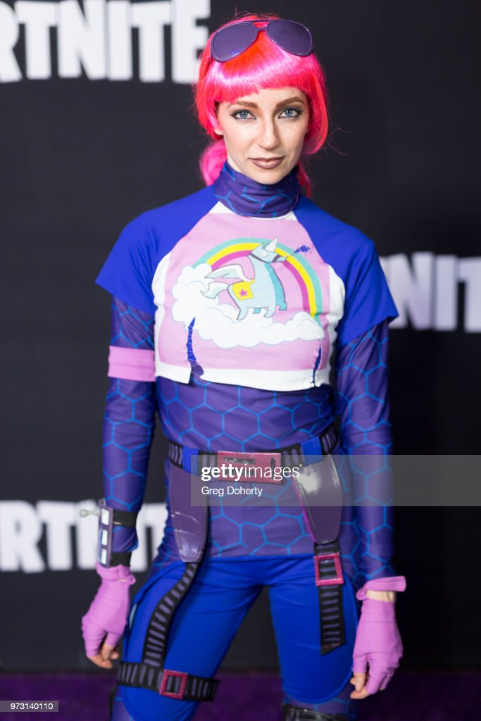 Brite Bomber attend the Epic Games Hosts Fortnite Party Royale on June 12, 2018 in Los Angeles, California.