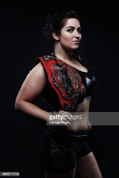 Britenay poses for a portrait during the New Zealand Pro Wrestling Winter Warfare Fight Night at Titirangi Memorial Hall on June 10 2017 in Auckland...