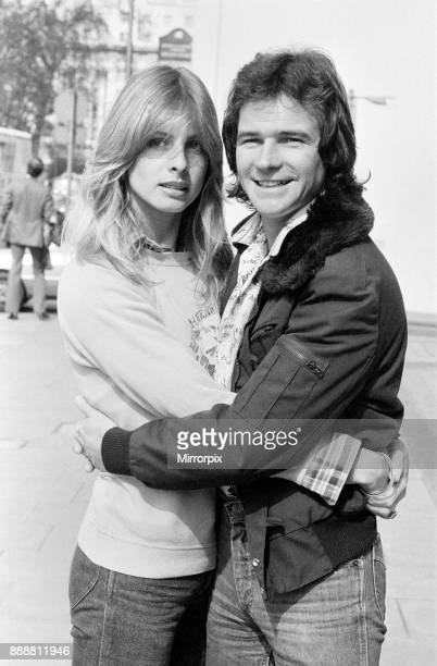 Britiain's World Motorcycle racing Champion Barry Sheene pictured with girlfriend Stephanie McLean discussing the possibility of becoming a tex exile...
