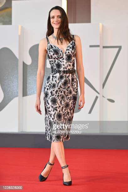 BritichFrench actress Stacy Martin arrives for the screening of the film Amants presented in competition on the second day of the 77th Venice Film...