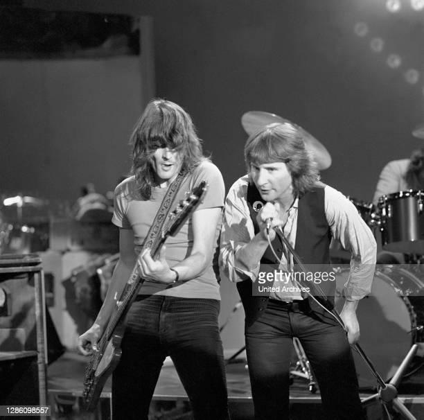Britische Rockband, 70er Jahre. Musik, Rock, Band, 70er.