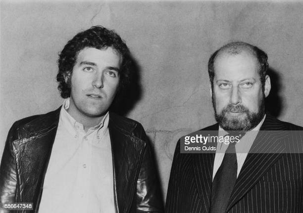 British activist and President of the Young Liberals Peter Hain leaving Wandsworth Police Station in London with Clement Freud the Liberal MP for...