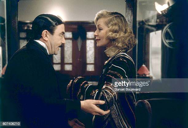 British actor Albert Finney and American Lauren Bacall on the set of Murder on the Orient Express based on the novel by British Agatha Christie and...