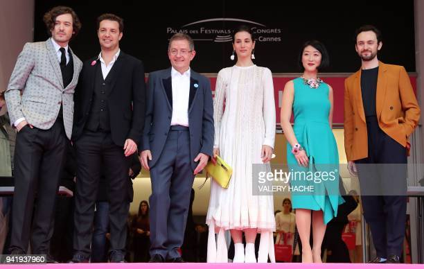 British actor Alexander Vlahos Artistic Director of Cannesseries Albin Lewi Director General of Cannesseries Benoit Louvet British actress Elisa...
