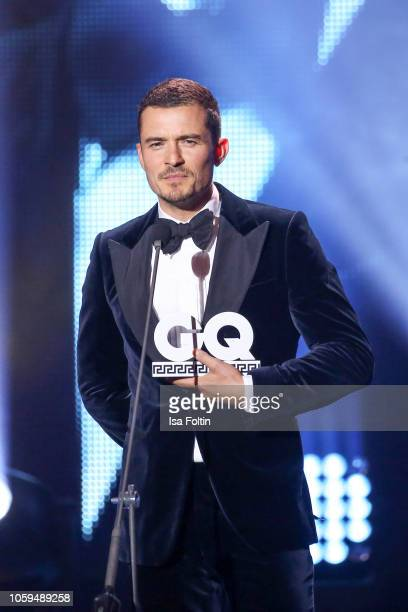 British actor and award winner Orlando Bloom is seen on stage during the GQ Men of the Year Award show at Komische Oper on November 8 2018 in Berlin...