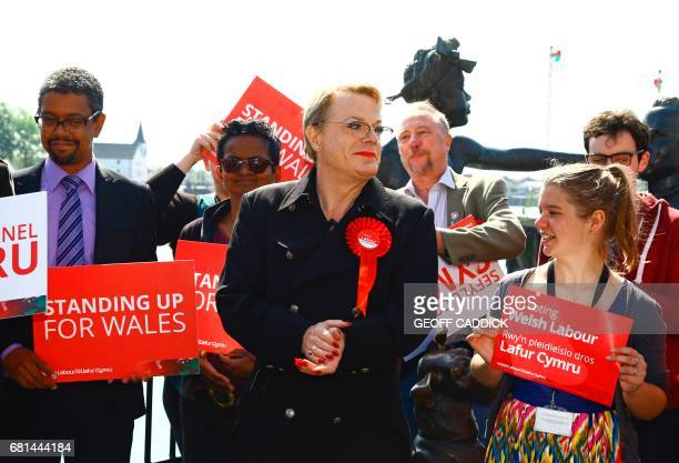 British actor and comedian Eddie Izzard attends a Labour general election campaign event in Cardiff on May 10 2017 Britain will vote in a general...