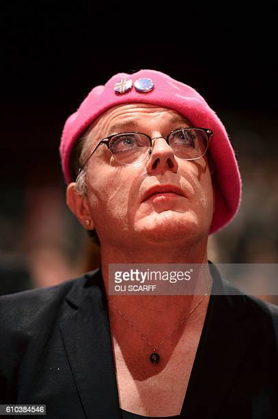 British actor and comedian Eddie Izzard listens as Labour Party member of parliament Rachel Reeves speaks in honour of murdered Labour MP Jo Cox on...