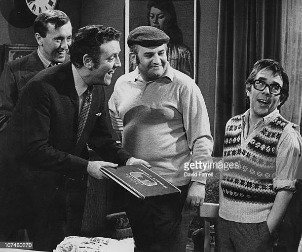 British actor and comedian Ronnie Corbett appears on the television show 'This is Your Life' 1970 From left to right David Frost Eamonn Andrews...