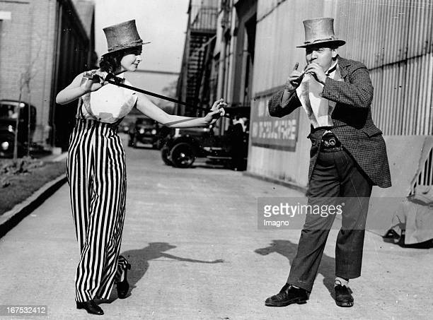 British actor and director Charles Laughton and the british actress Vivien Leigh during shootings for the movie ST MARTIN´s LANE Elstree...
