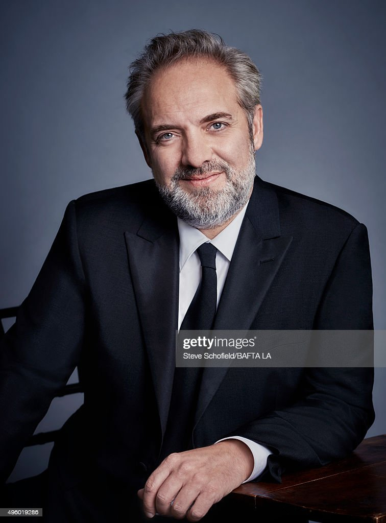 British actor and director Sam Mendes poses for a portrait at the 2015 BAFTA Britannia Awards Portraits on October 30, 2015 at the Beverly Hilton Hotel in Beverly Hills, California.