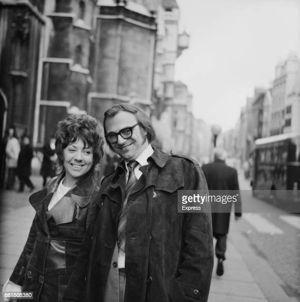 British actor and radio host Roy Hudd with his wife Ann after a divorce reconciliation London UK 19th February 1971