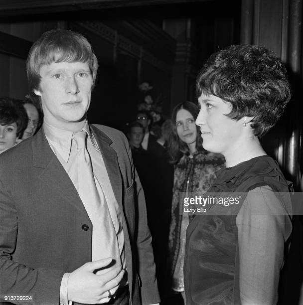 British actor and singer Dennis Waterman attends the film premiere of 'Up the Junction' UK 24th January 1968