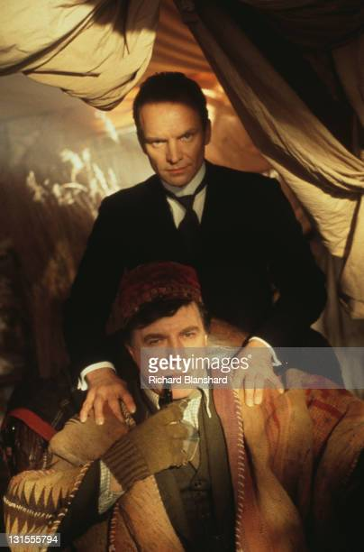 British actor and singer Sting as the butler Fledge and Alan Bates as his master Sir Hugo Coal in the film 'The Grotesque' 1995