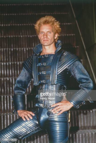 British actor and singer Sting on the set of Dune, directed and written by David Lynch.