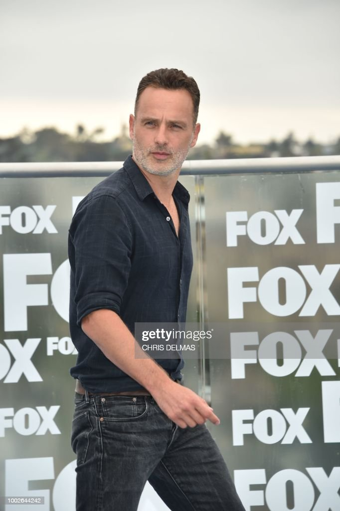 British actor Andrew Lincoln arrives for 'The Walking Dead' photo call at Comic-Con International 2018 in San Diego, California on July 20, 2018.