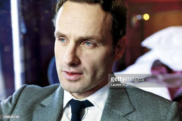 British actor Andrew Lincoln poses during a portrait session held on January 5, 2012 in Paris, France.