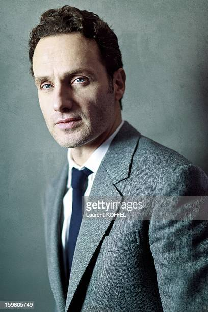 British actor Andrew Lincoln poses during a portrait session held on January 5 2012 in Paris France