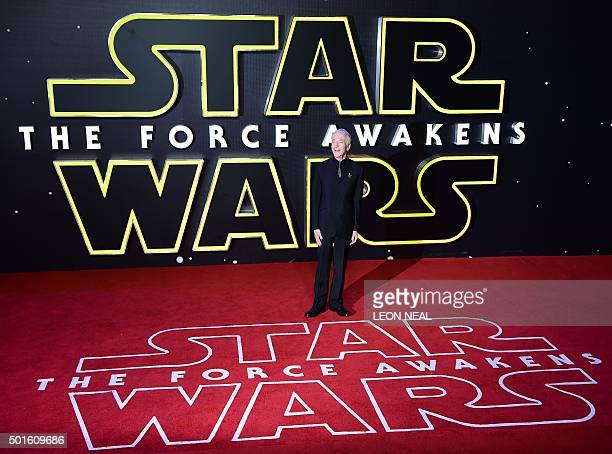 British actor Anthony Daniels attends the opening of the European Premiere of Star Wars The Force Awakens in central London on December 16 2015 Ever...
