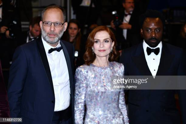 British actor Ariyon Bakare , US director Ira Sachs and French actress Isabelle Huppert arrive for the screening of the film 'Frankie' at the 72nd...