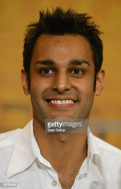 """British actor Atta Yaqub attends the news conference to """"Ae Fond Kiss"""" at the 54th annual Berlinale International Film Festival February 13, 2004 in..."""
