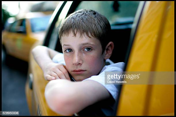 British actor Barney Clark who played Oliver in Oliver Twist poses in New York City