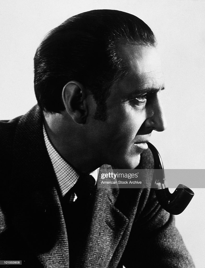 British actor Basil Rathbone (1892 - 1967) as fictional detective Sherlock Holmes, circa 1939.