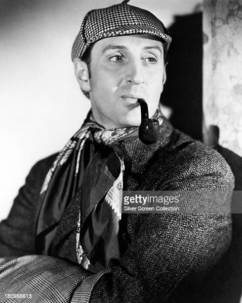 British actor Basil Rathbone as Sherlock Holmes in a promotional portrait for 'The Hound of the Baskervilles' directed by Sidney Lanfield 1939