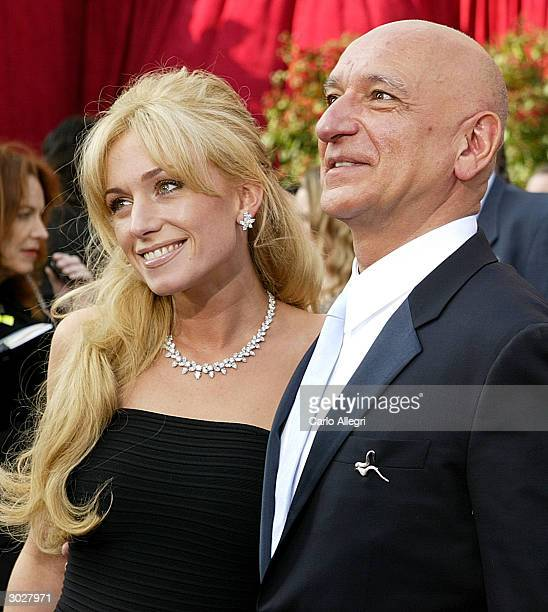 British actor Ben Kingsley with wife Alexandra Christmann attend the 76th Annual Academy Awards on February 29, 2004 at the Kodak Theater, in...