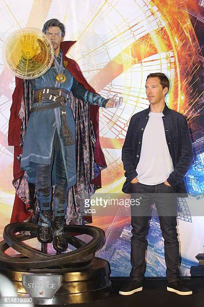 British actor Benedict Cumberbatch attends press conference of film Doctor Strange on October 13 2016 in Hong Kong China