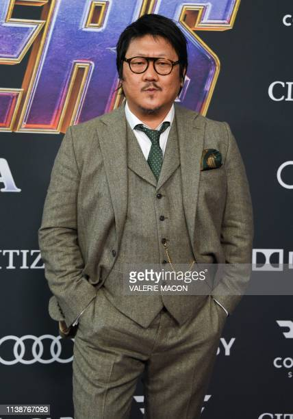 British actor Benedict Wong arrives for the World premiere of Marvel Studios' Avengers Endgame at the Los Angeles Convention Center on April 22 2019...