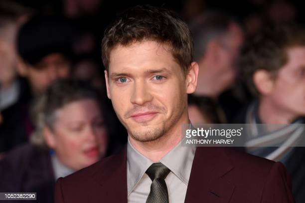British actor Billy Howle poses upon arrival for the European premiere of the film 'Outlaw King' during the BFI London Film Festival in London on...