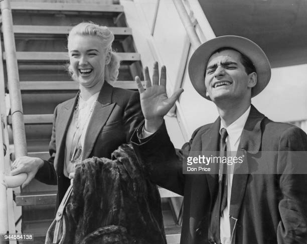 British actor Bonar Colleano and actress Susan Shaw arrive at London Airport from America where they have been filming 16th April 1952 They were...