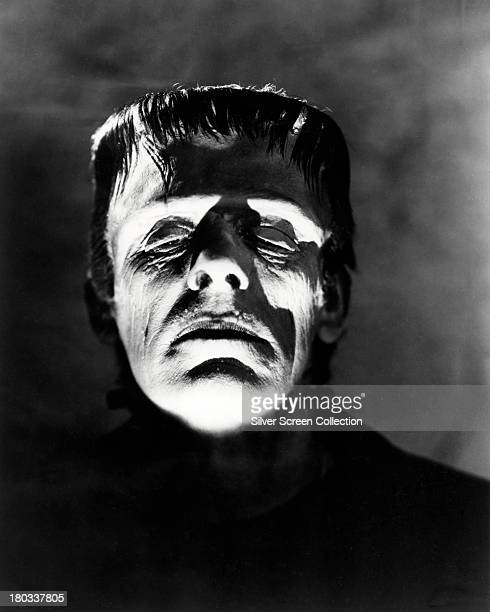 British actor Boris Karloff as The Monster in a promotional portrait for 'Frankenstein' directed by James Whale 1931