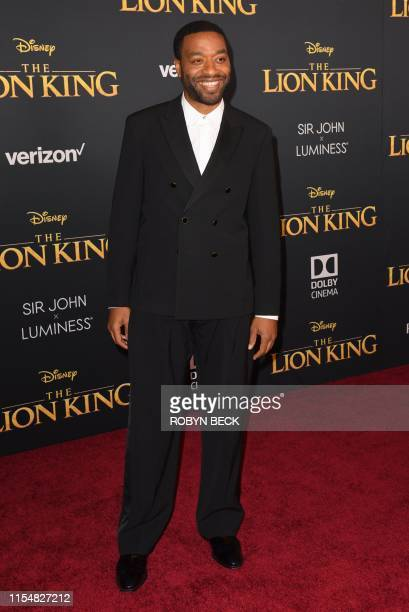 British actor Chiwetel Ejiofor arrives for the world premiere of Disney's The Lion King at the Dolby theatre on July 9 2019 in Hollywood
