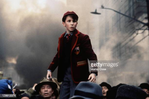 British actor Christian Bale as lost schoolboy Jim Graham in a scene from the film 'Empire of the Sun', 1987.
