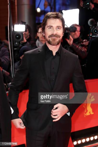 """British actor Christian Bale poses at the """"Vice"""" premiere during the 69th Berlinale International Film Festival Berlin at Berlinale Palace on..."""