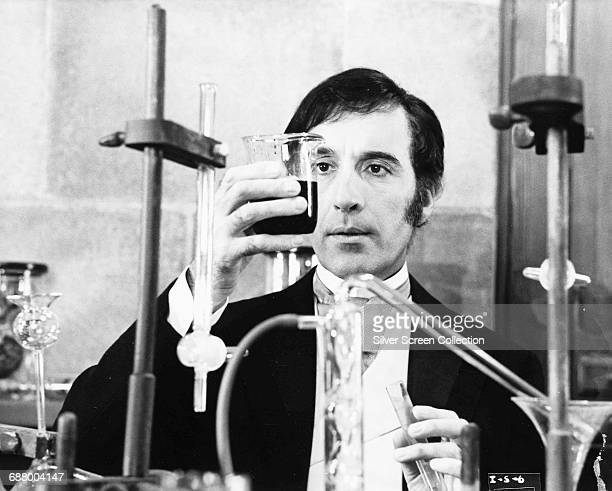 British actor Christopher Lee in a laboratory in a still from the film 'I Monster' 1971 Although his character's name is Dr Marlowe the plot is taken...