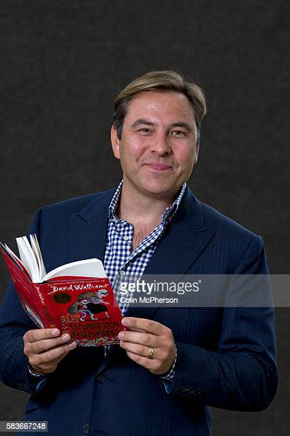 British actor comedian swimmer talent show judge and children's writer David Walliams pictured at the Edinburgh International Book Festival where he...