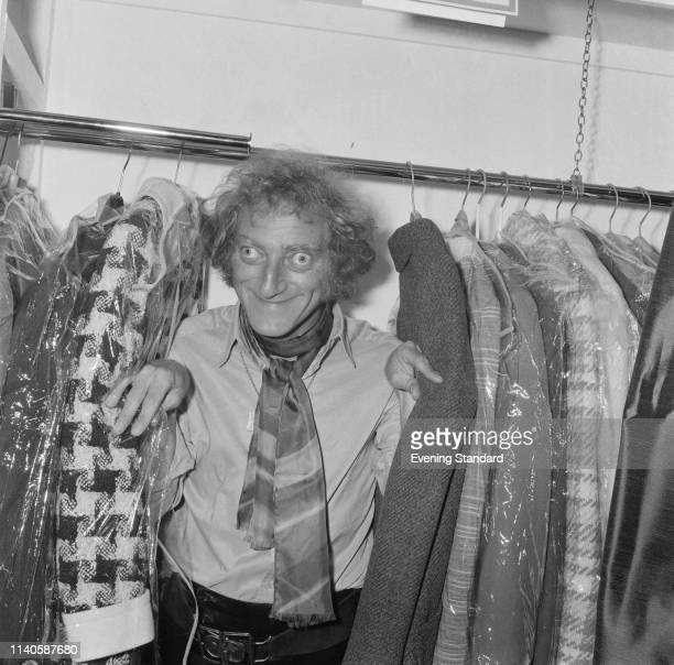 British actor comedy writer and comedian Marty Feldman inside a cloakroom UK 6th August 1969